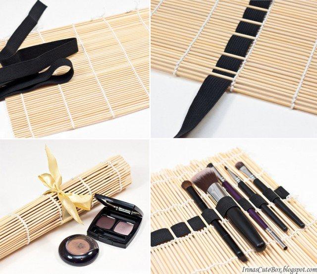 sushi-mat-makeup-brushes-organizer-collage-640x554
