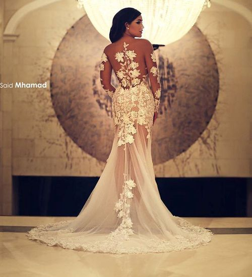 wedding dress transparence