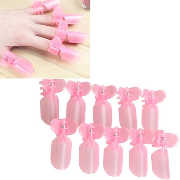 10Pcs-Pink-Plastic-Salon-Nail-Art-DIY-Nanicure-Design-Tips-Varnish-Cover-font-b-Polish-b