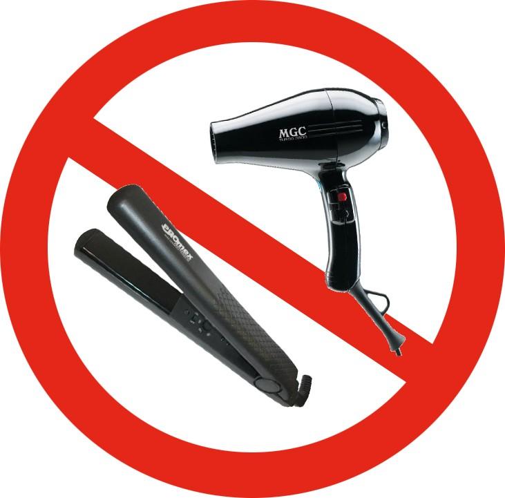 interdiction appareil chauffant le lisseur abime les cheveux le séchoir abime les cheveux trop de chaleur