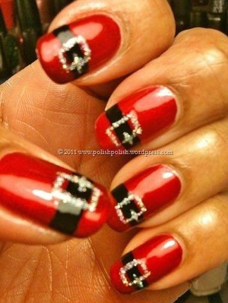 20 supers id es d ongles sp cial f te de fin d ann e for Decoration ongle noel