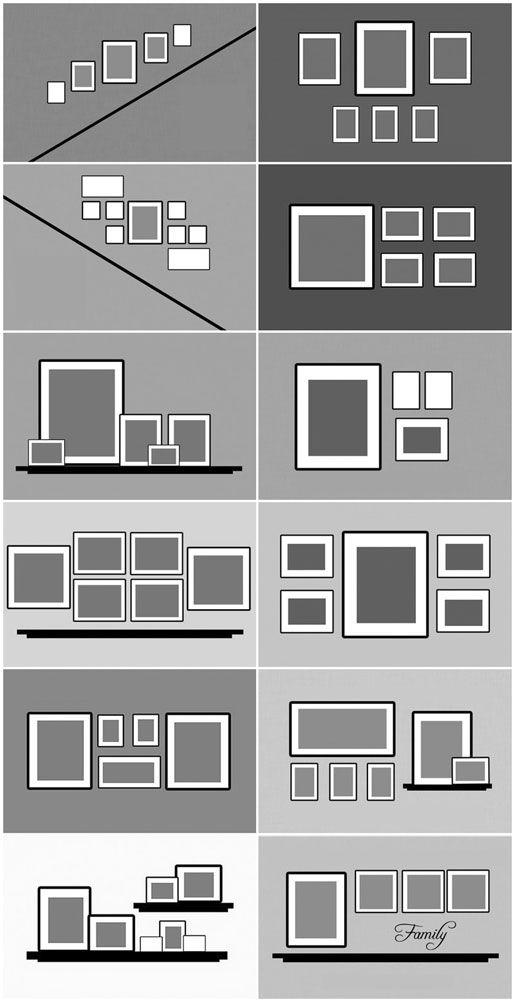 11 id es de cadres magnifiques tester chez vous - Faire un mur de tableaux ...