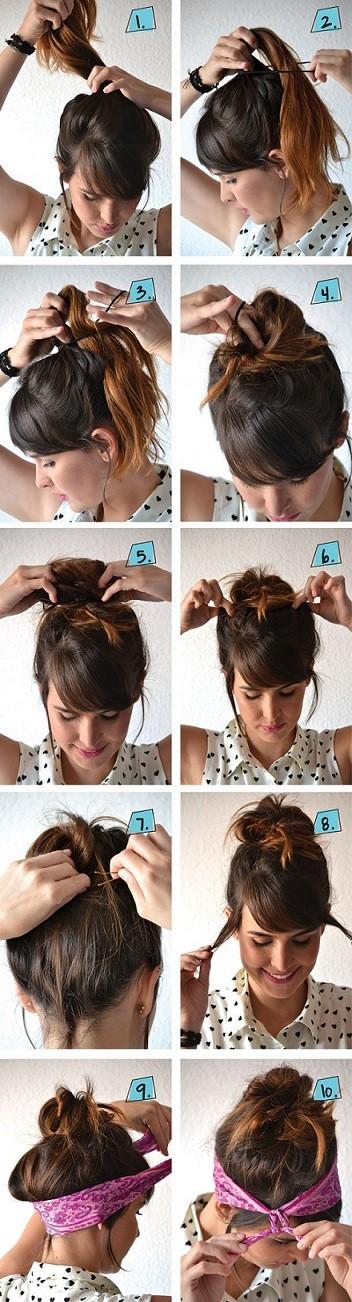 Habillez vos cheveux longs dun beau foulard