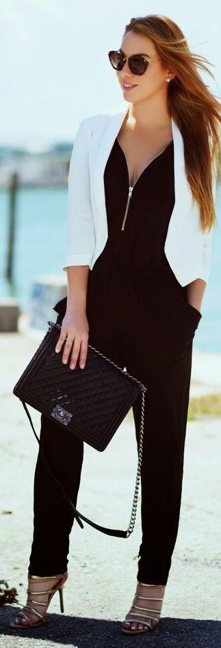 Combinaison 5 tops conseils pour bien la choisir astuces de filles - Quelles chaussures avec une combinaison noire ...