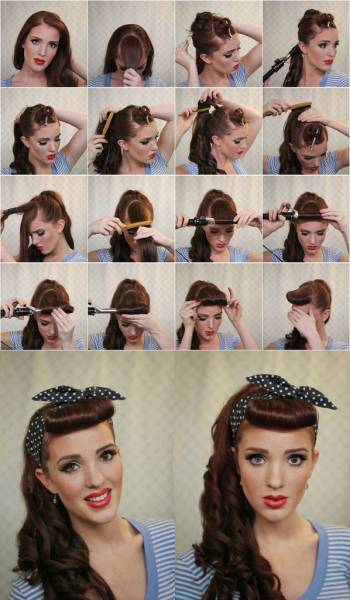 2 Coiffure pin up
