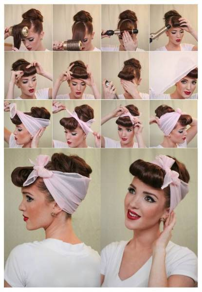 4 Coiffure pin up