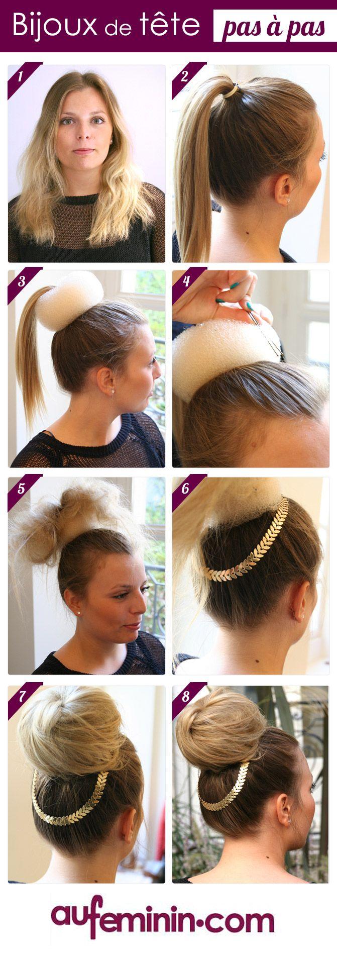 16 tutos de coiffures canons avec un headband astuces de - Chignon avec headband ...