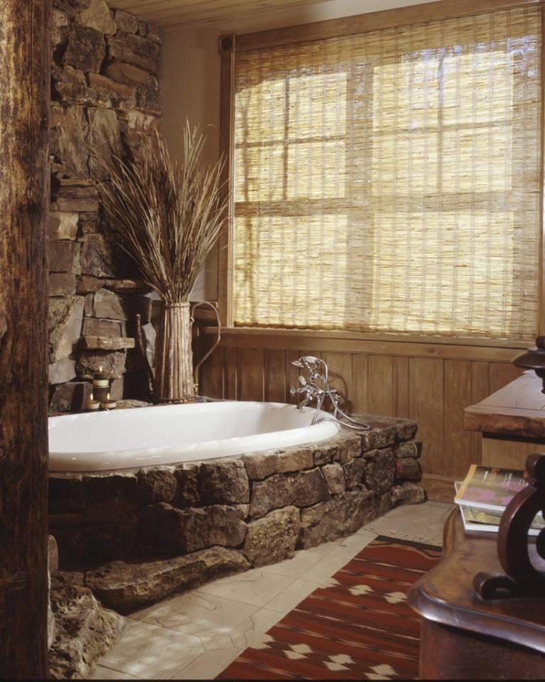 7 salles de bain au style nature et bois astuces de filles for Au salle de bain