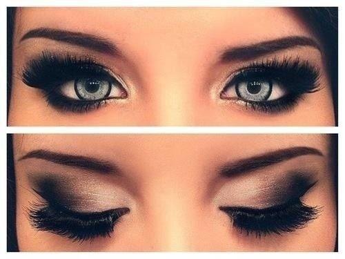 maquillage de soirée yeux marrons - femmes sexy