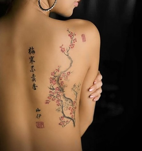 Cherry-Tattoos-Designs-Cherry-blossom-tree-tattoo-on-back