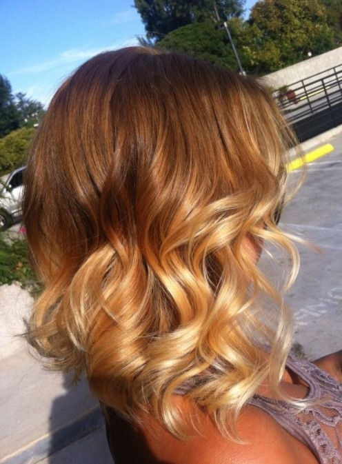 Carr plongeant long ombr hair - Ombre hair carre ...