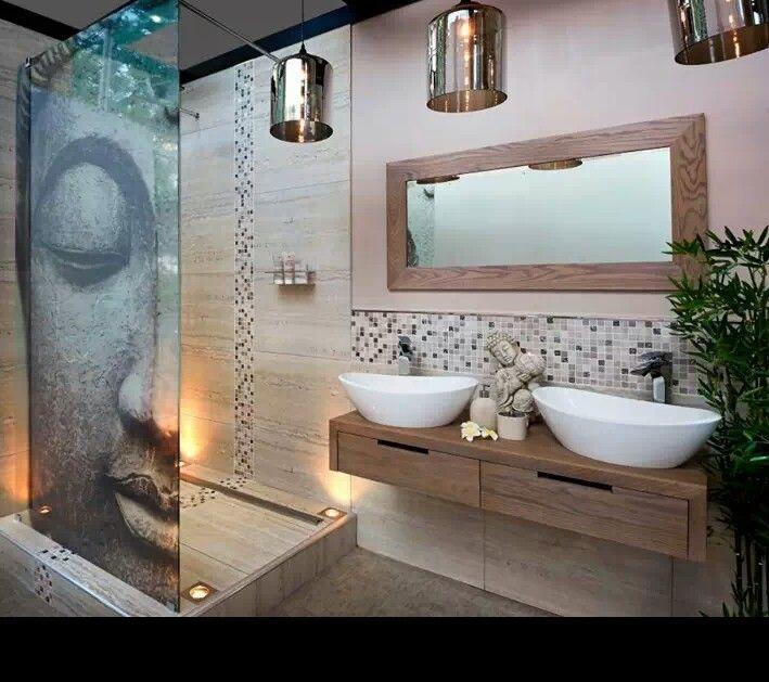 D coration salle de bain style zen for Salle de bain chambre ouverte