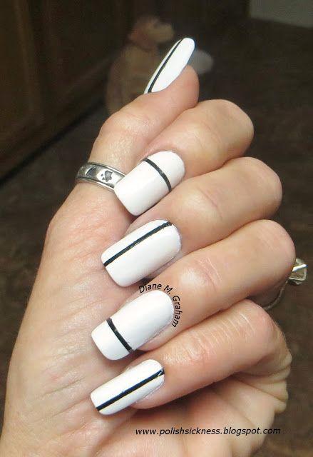 Single Line Nail Art : Nail art manucures minimalistes que vous allez adorer