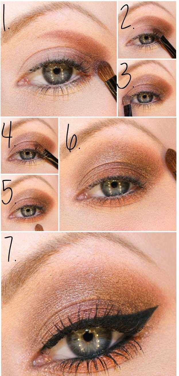 tuto-maquillage-yeux-bleus-fard-paupières-marron-eye-liner