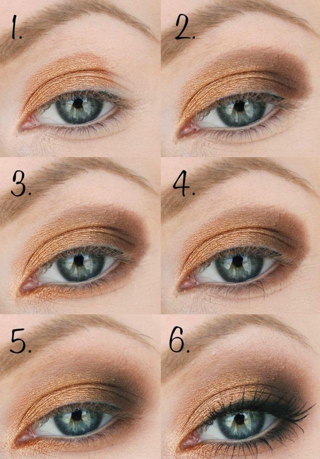 tuto-maquillage-yeux-fard-paupières-or-marron