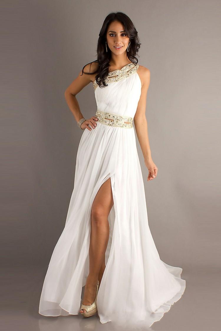 Белое платье на выпускной новые фото