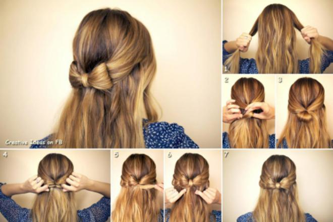 coiffure femme long facile
