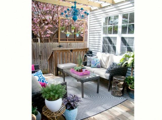 38 inspirations de d co pour votre terrasse cet t astuces de filles. Black Bedroom Furniture Sets. Home Design Ideas