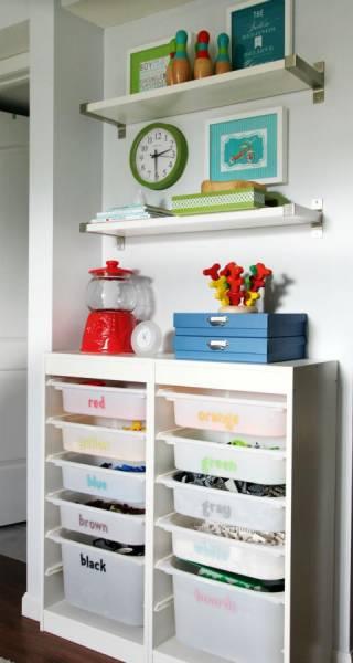 18 id es de rangement pratiques pour chambre d enfant astuces de filles. Black Bedroom Furniture Sets. Home Design Ideas