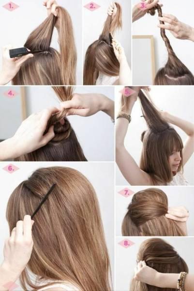 Astuce pour se coiffer cheveux mi long