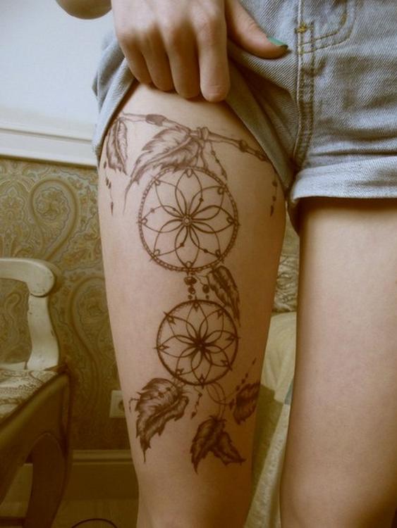 20 id es tattoos pour que vos cuisses soient so sexy astuces de filles - Tattoo cuisse femme ...
