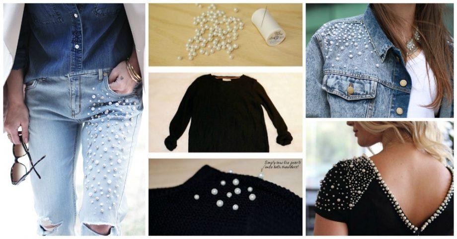 10 super belles id es diy pour embellir vos vetements et accessoires avec perles astuces de filles. Black Bedroom Furniture Sets. Home Design Ideas