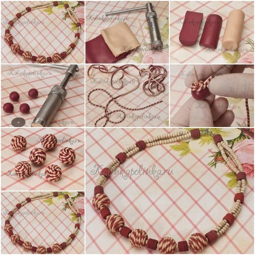 How To Make Clay Beads Collar Like Jewelry Step By Step Diy