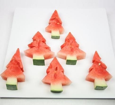 watermelon xmas tree