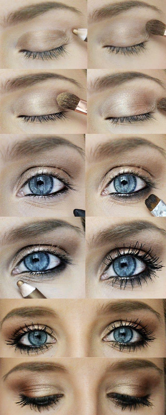 Extrêmement Top 6 des plus beaux maquillages spécial yeux bleus | Astuces de  XC35
