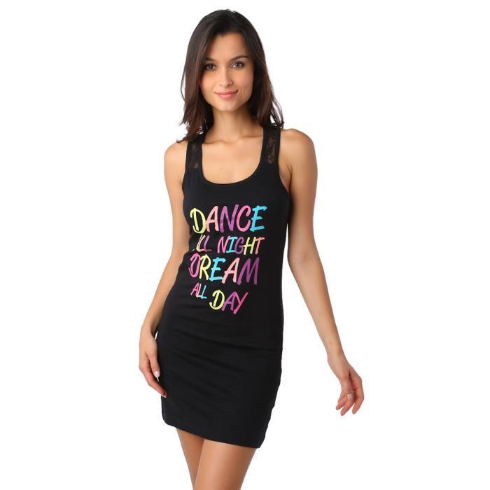chemise-de-nuit-imprime-message-noir