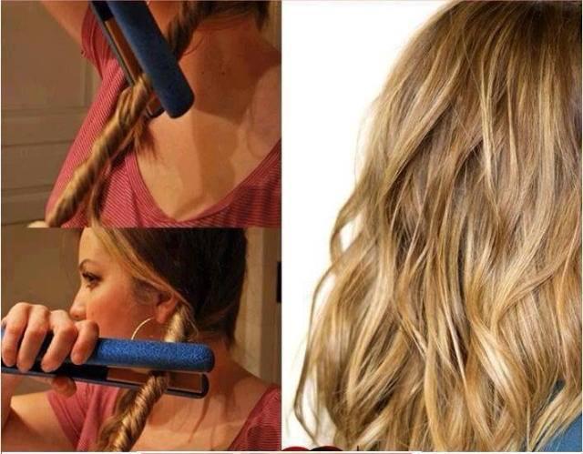 15 astuces coiffures simples et peu connues astuces de filles - Comment faire des boucles avec un lisseur ...