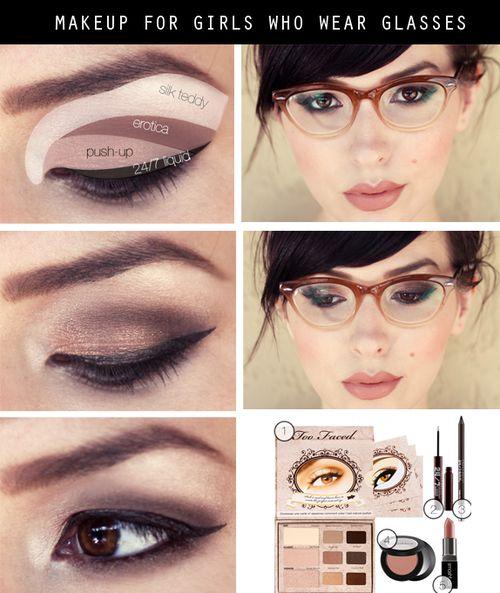 6 tutos maquillage g niaux pour celles qui portent des lunettes astuces de filles. Black Bedroom Furniture Sets. Home Design Ideas