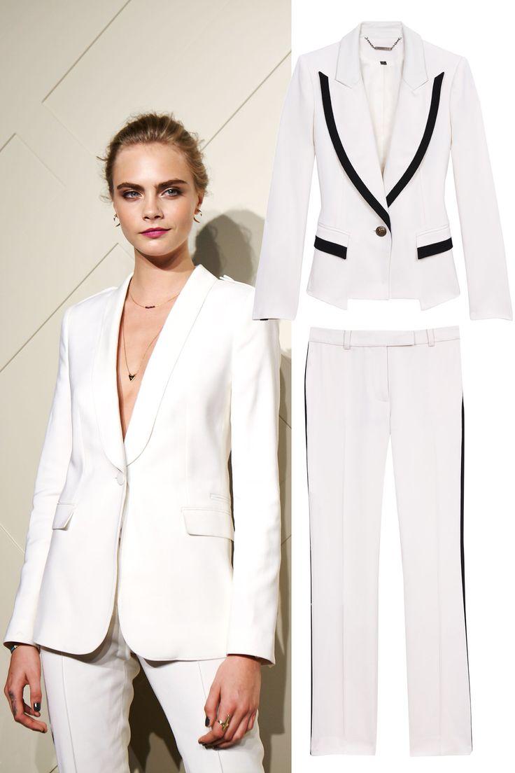 Veste smoking blanc pour femme