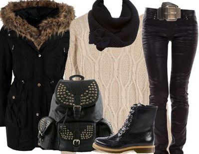 7 tenues chaudes et chic pour l hiver astuces de filles. Black Bedroom Furniture Sets. Home Design Ideas