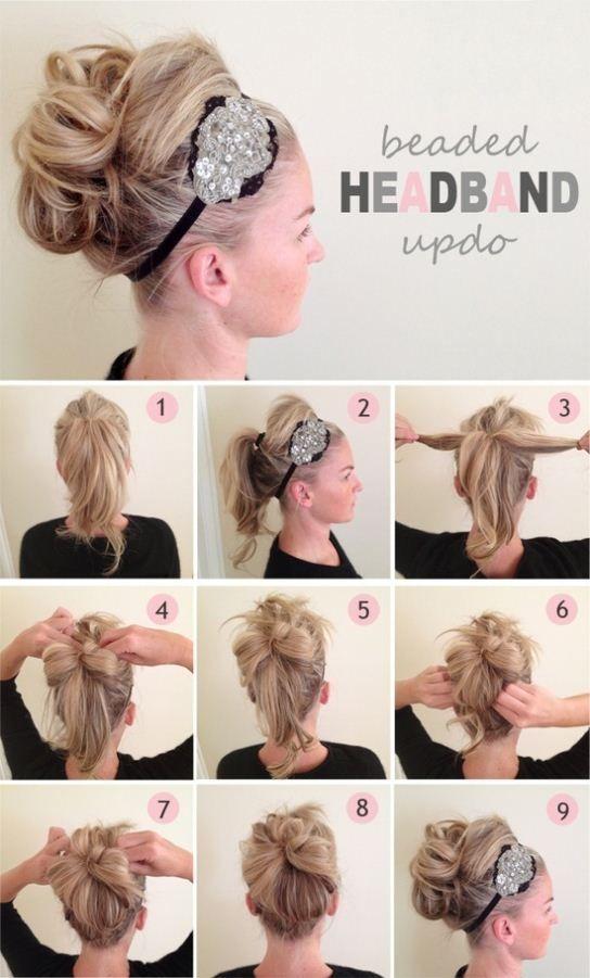 Bien connu 16 tutos de coiffures canons avec un headband | Astuces de filles JW31