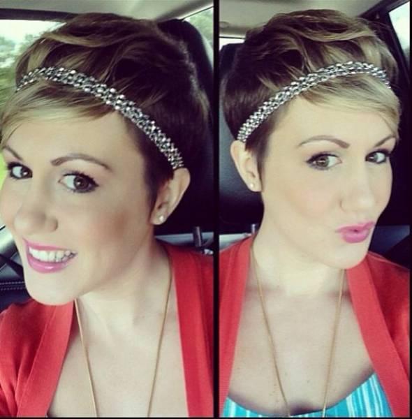 7 tutos coiffures pour cheveux courts ou mi longs astuces de filles - Coiffure headband cheveux courts ...