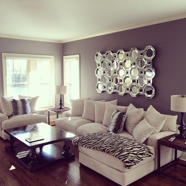 7 salons violets que vous allez adorer astuces de filles - Decoradoras de interiores ...