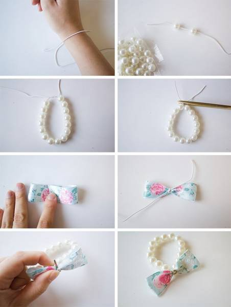 DIY-_-Pearl-Bow-Bracelet-tutorial