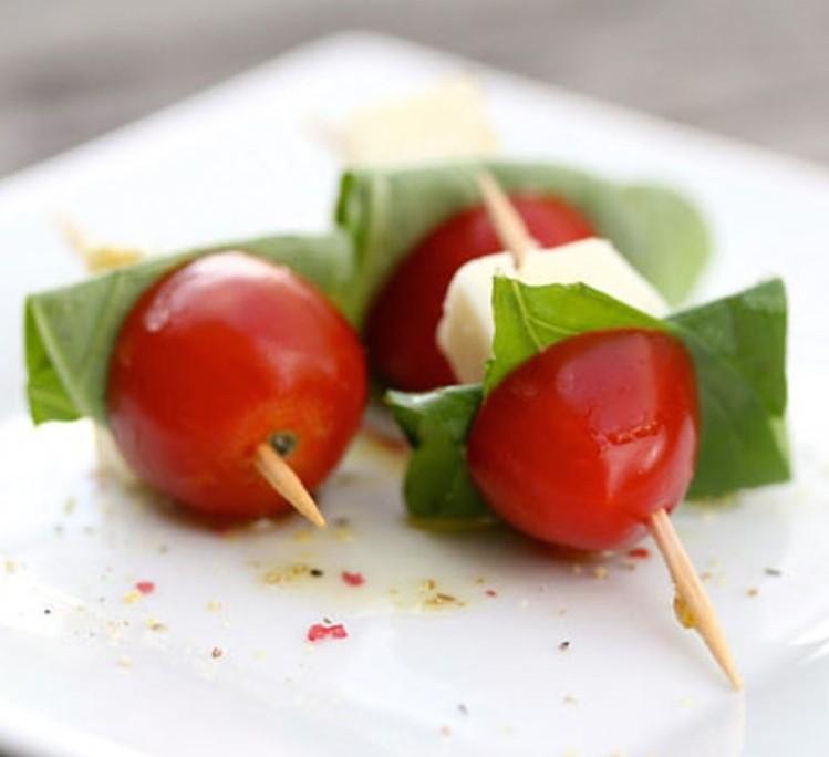 Brochette tomate mozza