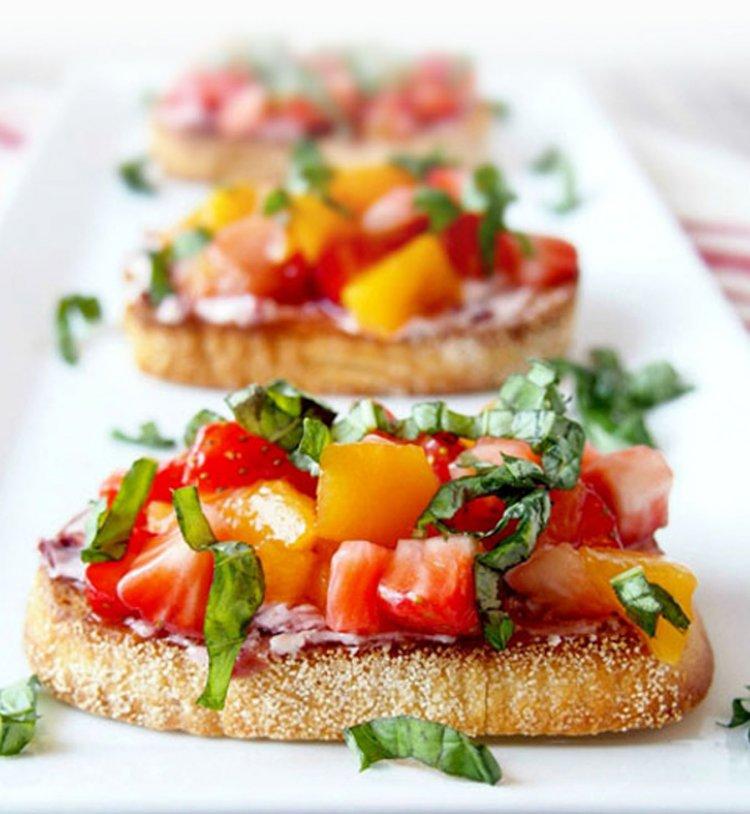 Brushetta tomate poivron