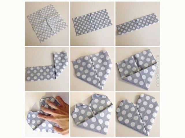 9 fa ons de plier une serviette papier pour une d co facile astuces de filles. Black Bedroom Furniture Sets. Home Design Ideas