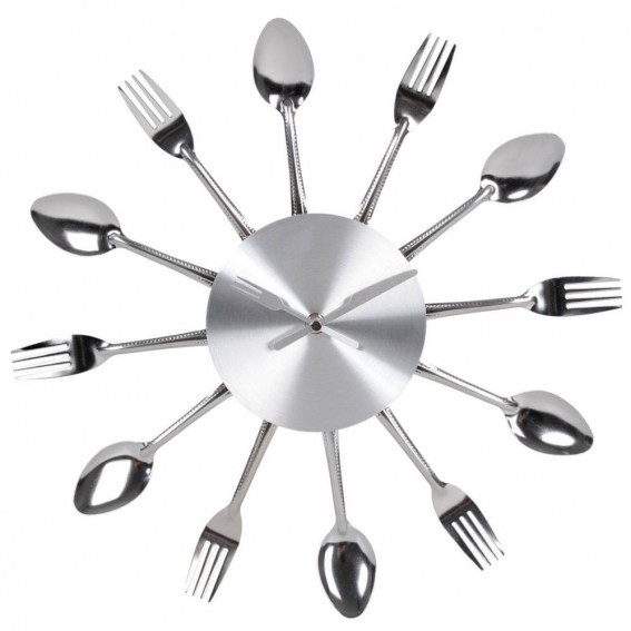 horloge_couverts_cuisine_alu