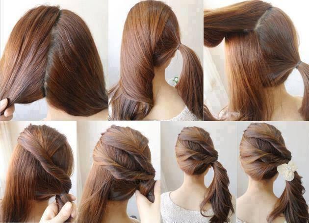 Les 50 coiffures rapides faire pour les press es du matin astuces de filles - Coiffure facile a faire le matin ...