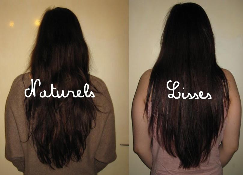 Lisser cheveux boucles naturellement