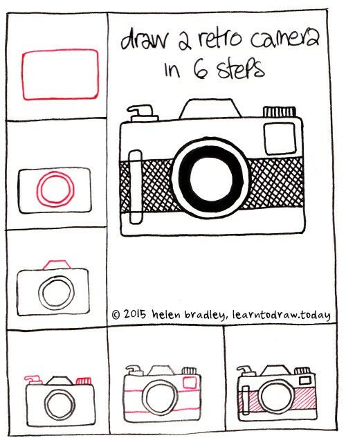 how to Draw a cute camera