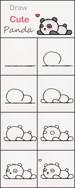 How to draw a panda easily